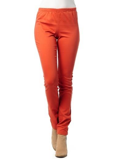 Vero Moda Vero Moda 10088731 Pamuklu Kadın Pantolon Kiremit